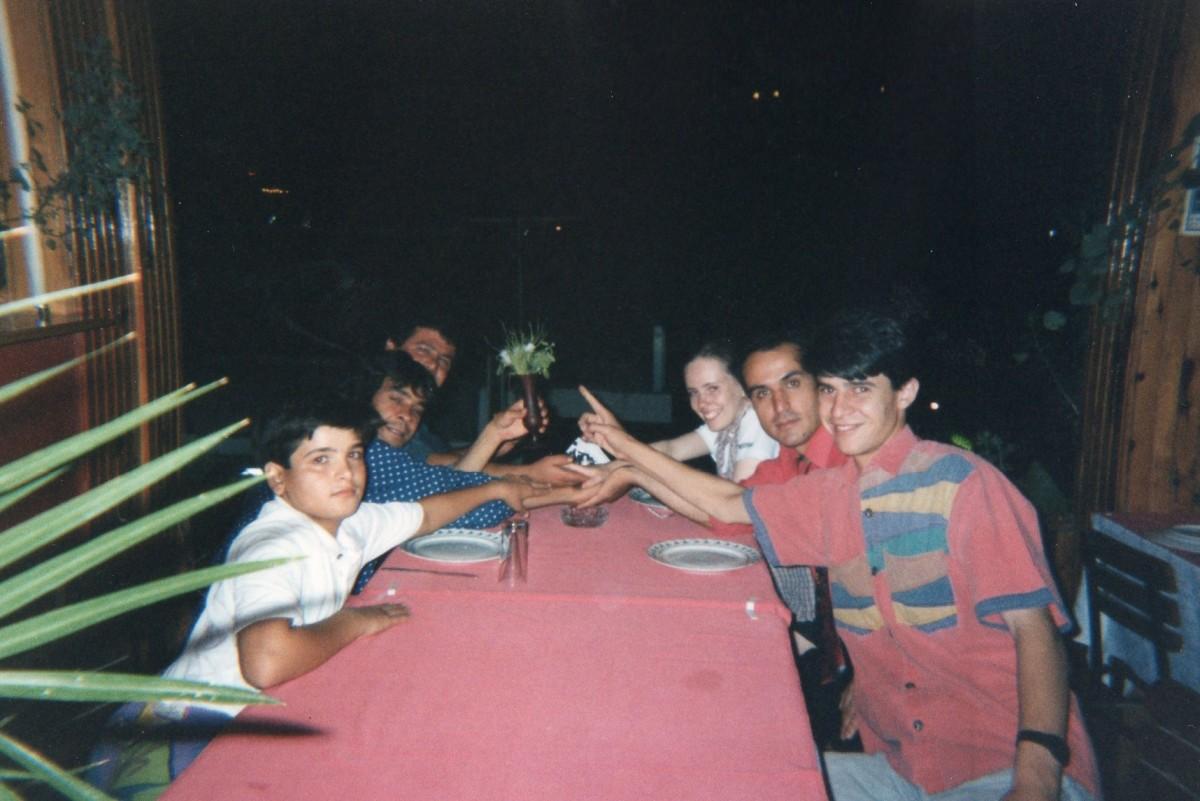Friends in Pamukkale Village, Turkey