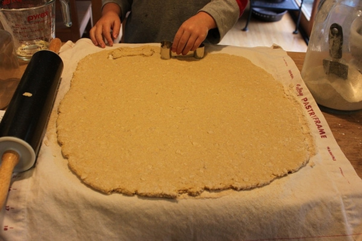 Rolling Out Homemade Dog Treat Dough by Rachel Tayse