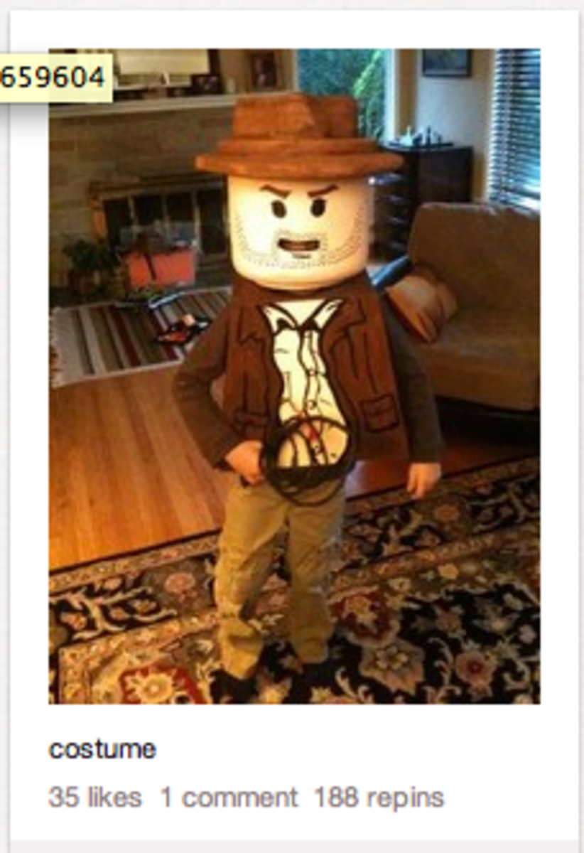 """Search for the tag """"costume"""" and find phenomenal inspiration pieces like a LEGO minfig!"""