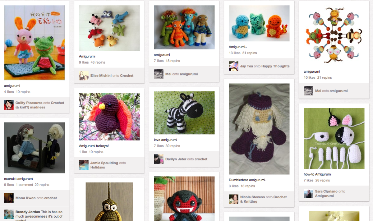 Amigurumi and other adorable crochet and knitting patterns are all being pinned right here!