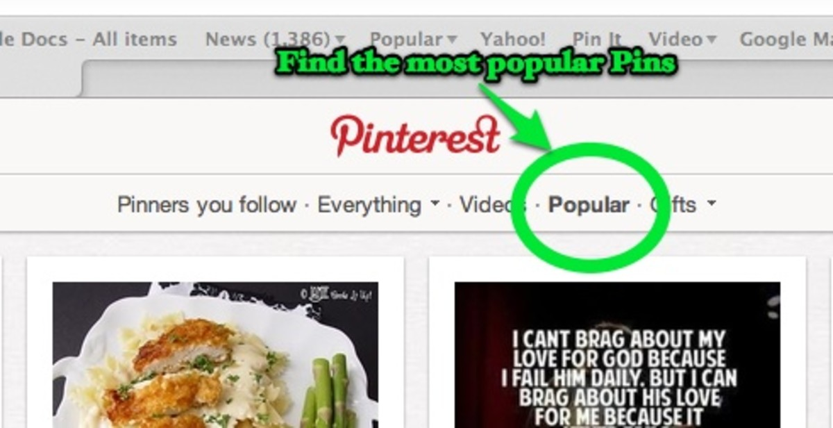 Want to know what is re-pinned a lot?  Click the Popular Option