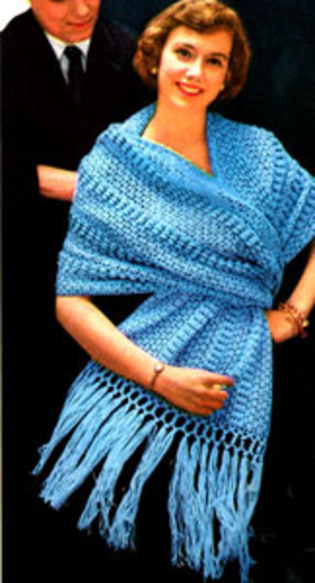 Concerto Shawl - pattern listed below