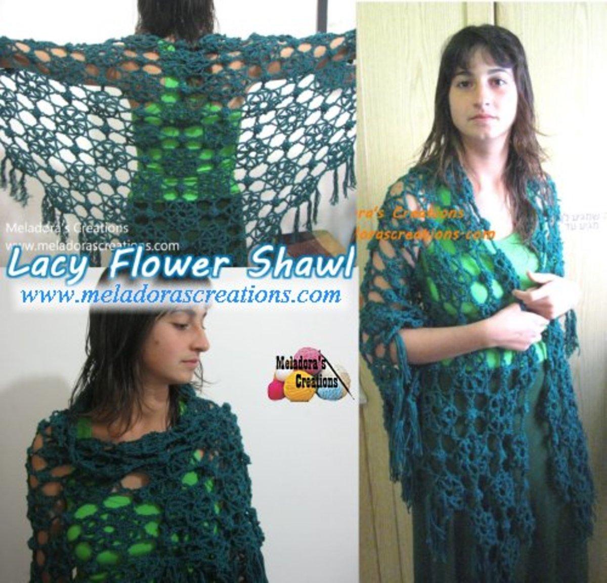 Lacy Flower Shawl
