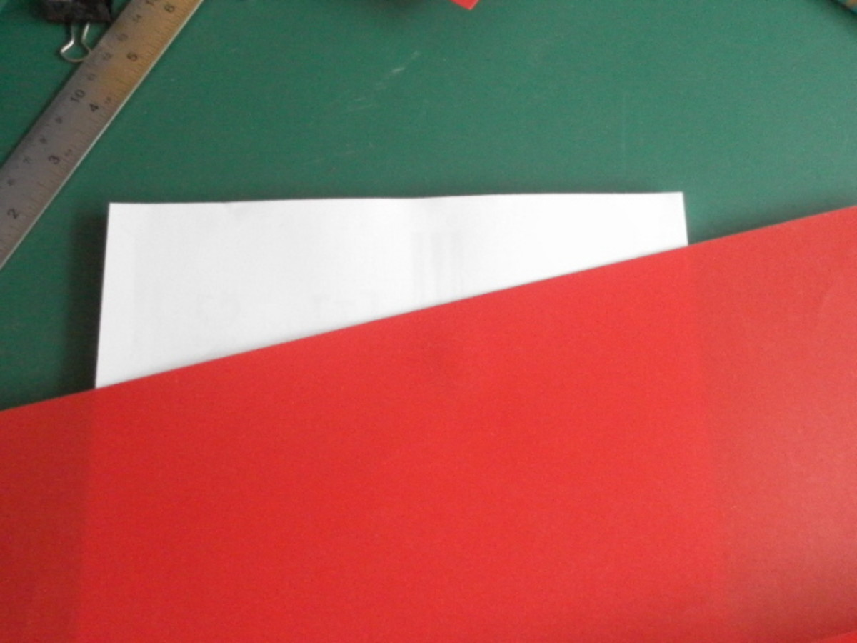Red plastic for my book cover.
