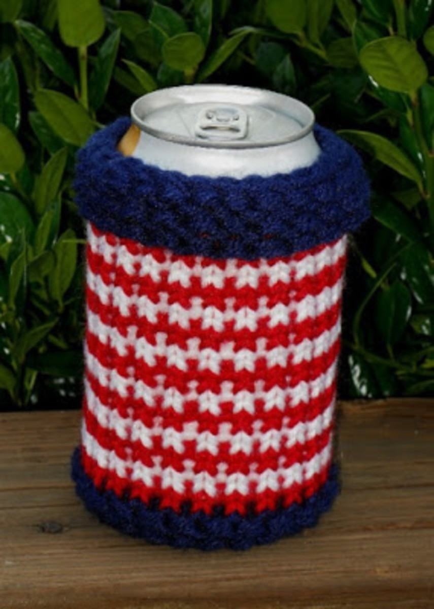 Red, White and Blue Soda Can Cozy