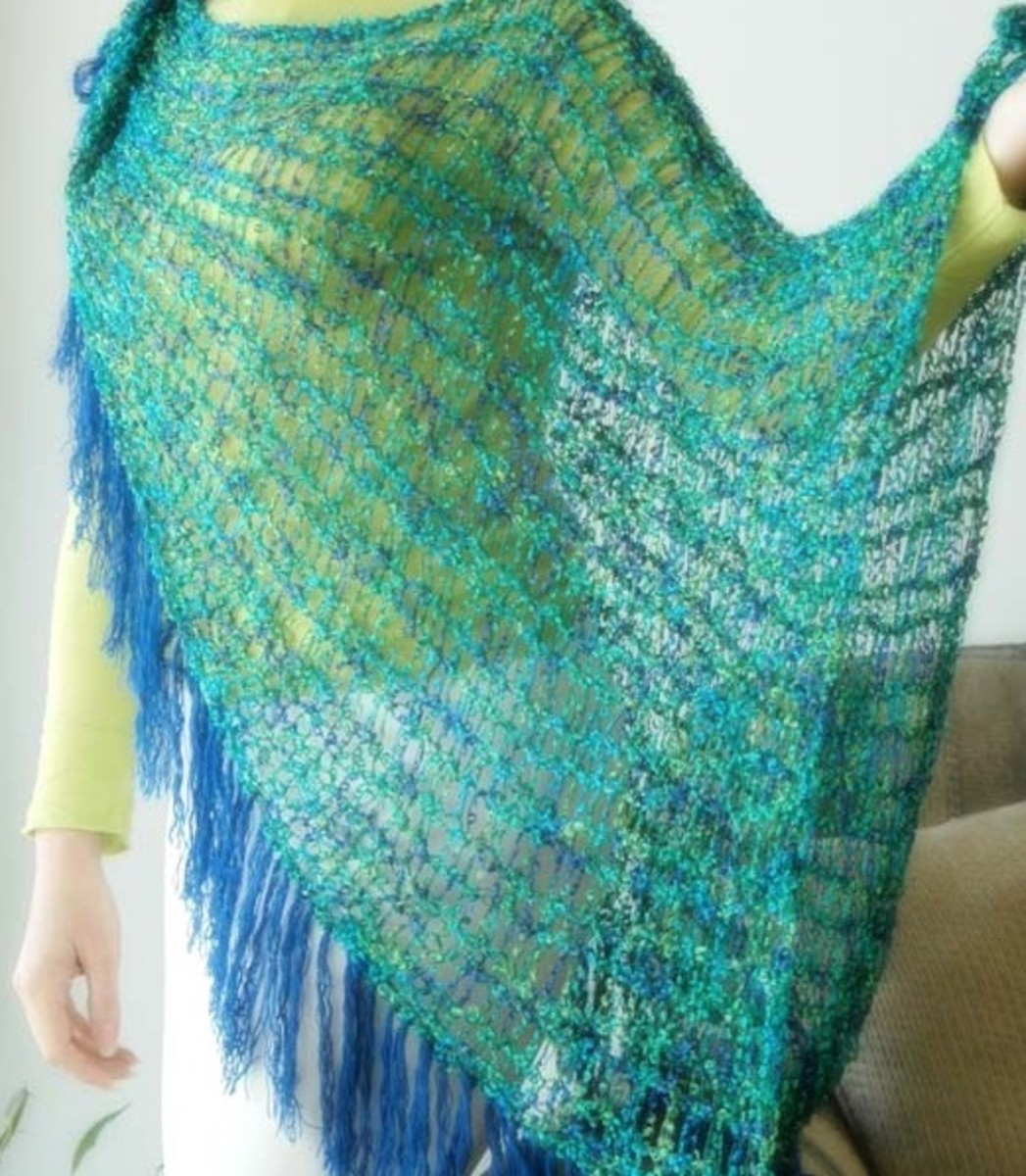 Large Shawl for the Knifty Knitter Looms