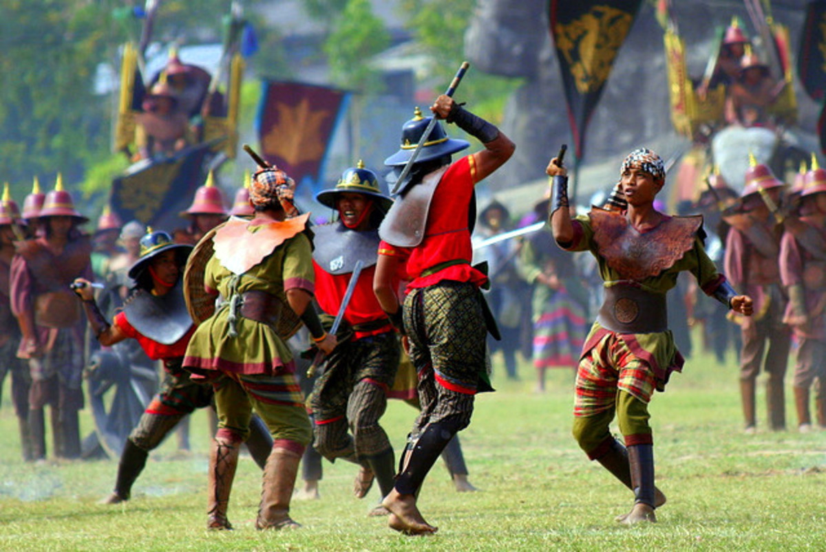 Battle Reenactment during Surin Annual Elephant Round-up