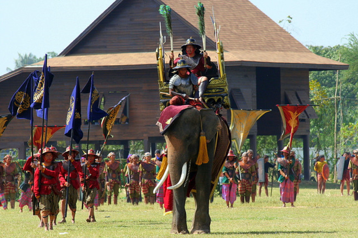 War Re-enactment is part of the festival activities, during Surin Elephant Round Up