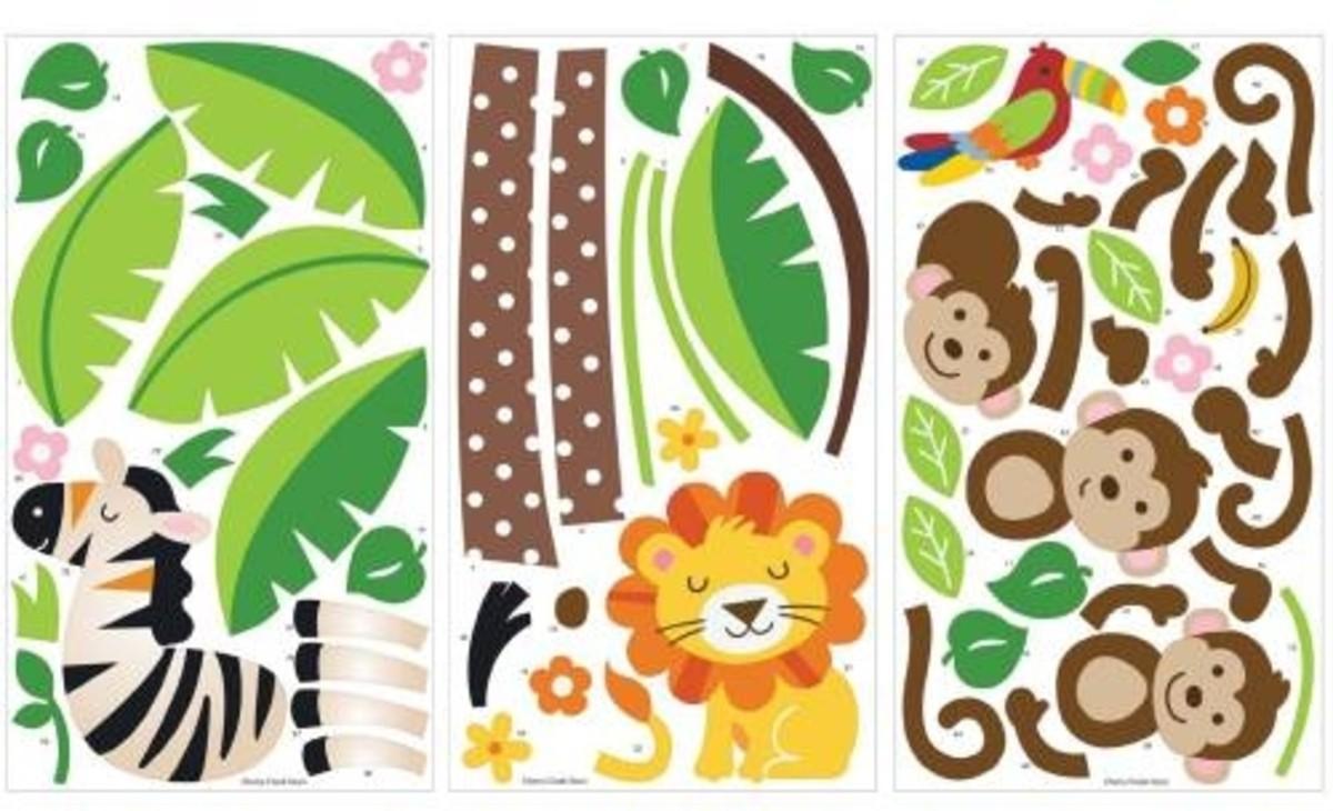 Nursery Peel & Stick Wall Sticker Decals