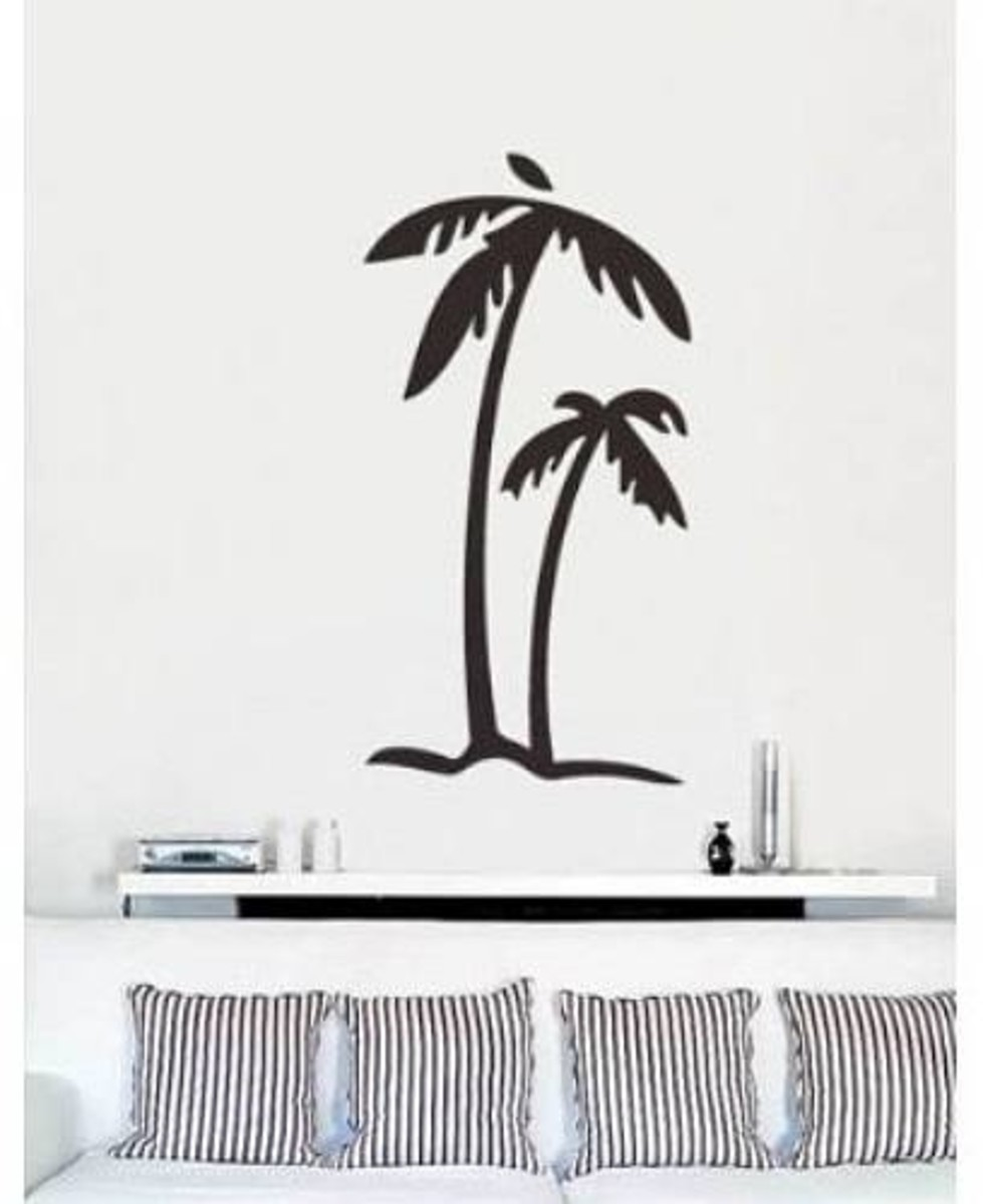 Vinyl Wall Art Decal Sticker Palm Tree Island