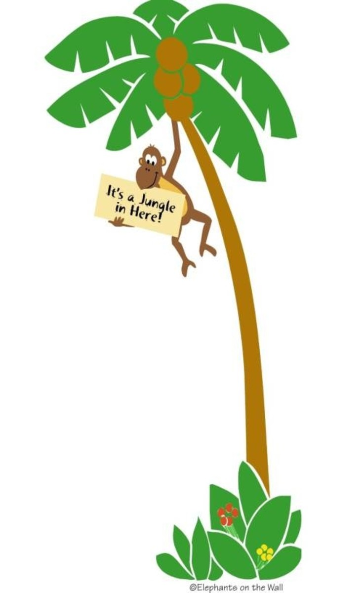 Monkey In A Tree Wall Decal