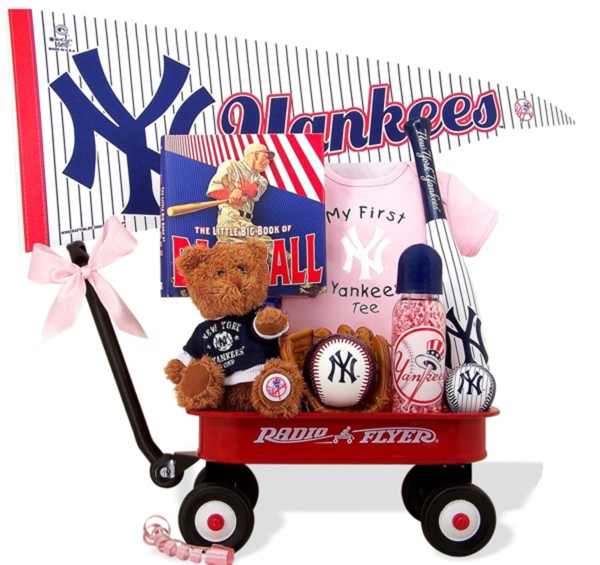 NY Yankees Baby Girl Baseball Wagon