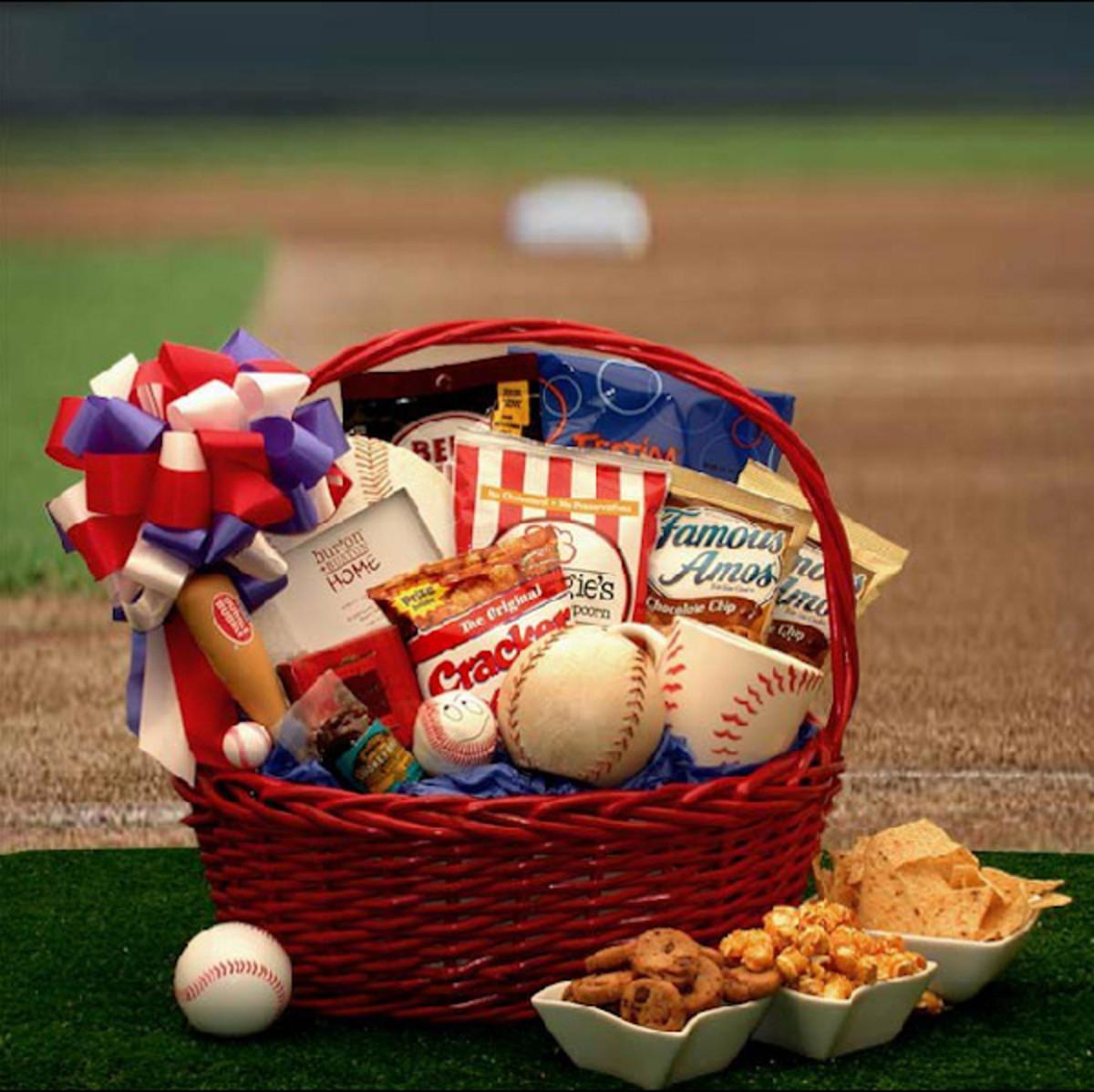 Baseball Fan Gift Basket