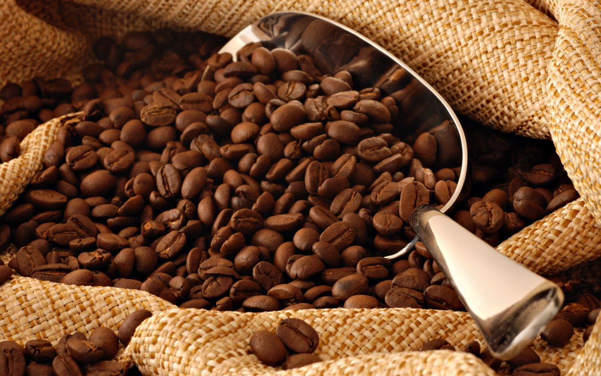 Smell those fresh, aromatic coffee beans.