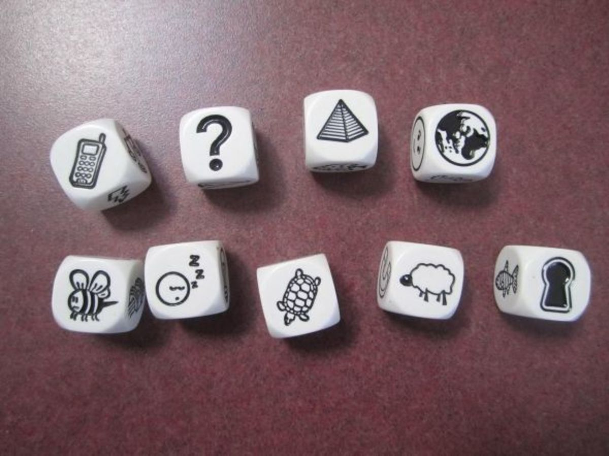 Rory's Story Cubes rolled