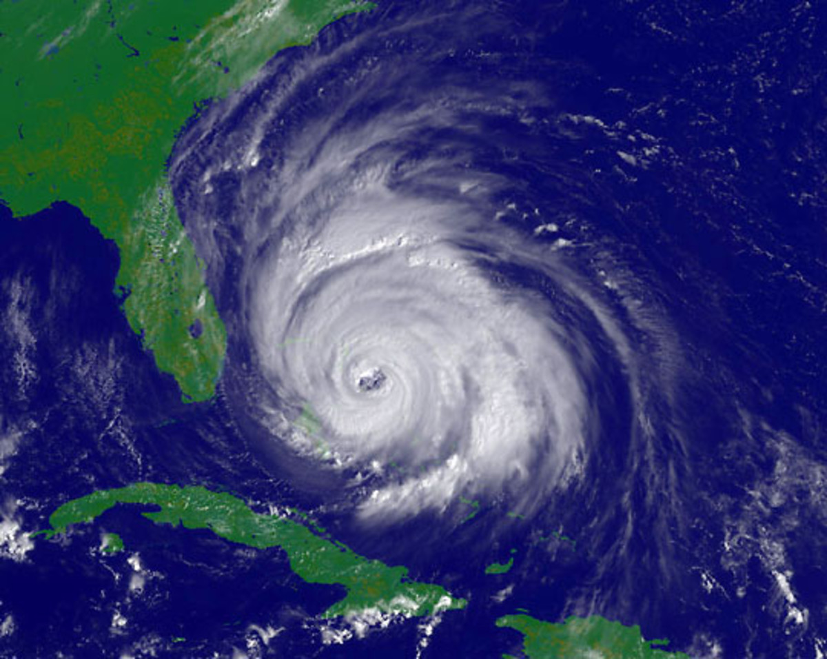 Hurricane in the middle of the Bermuda Triangle