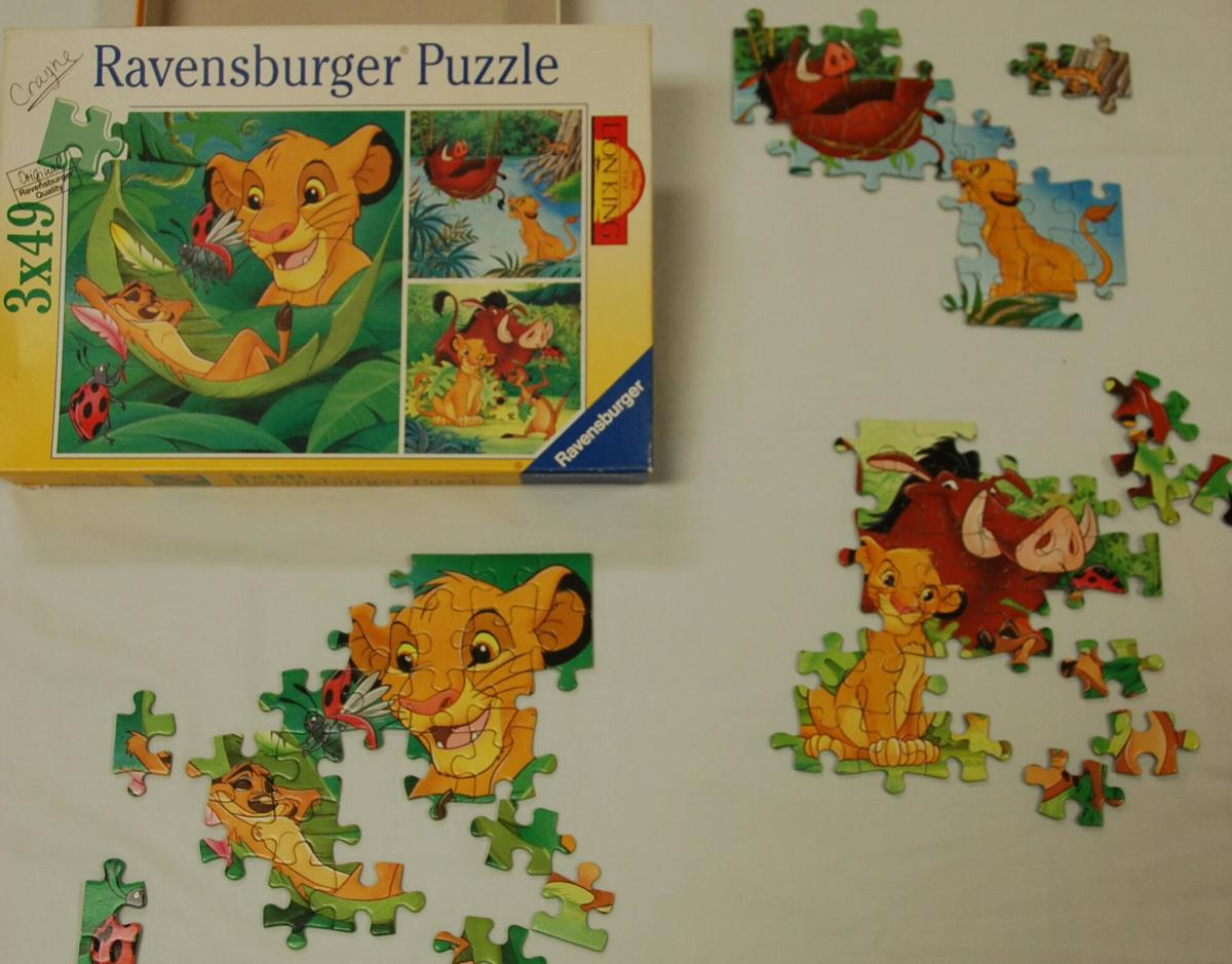 Look for pieces of specific character, to put together a portion of a puzzle.