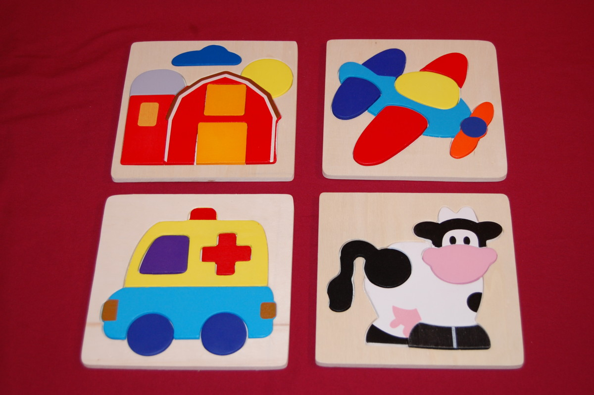 Small 5- to 7- piece non connecting puzzles from Target, $1 each.