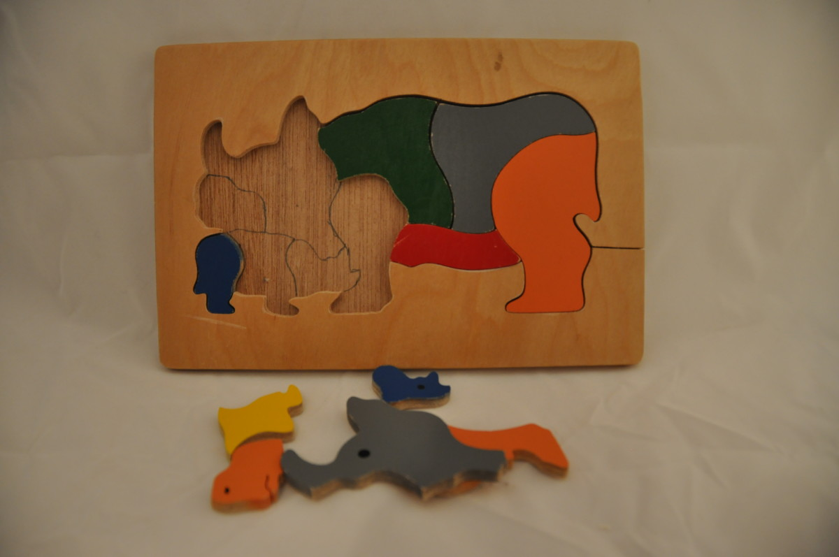 To make puzzle easier, trace outline of pieces, and/or keep photo of finished puzzle.