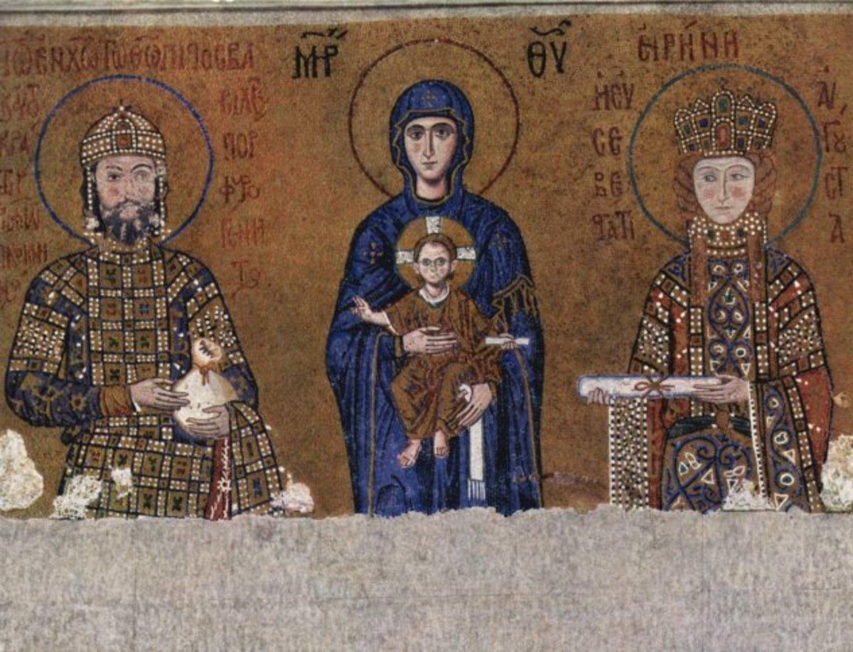 Justinian mosaik ravenna - PD-US