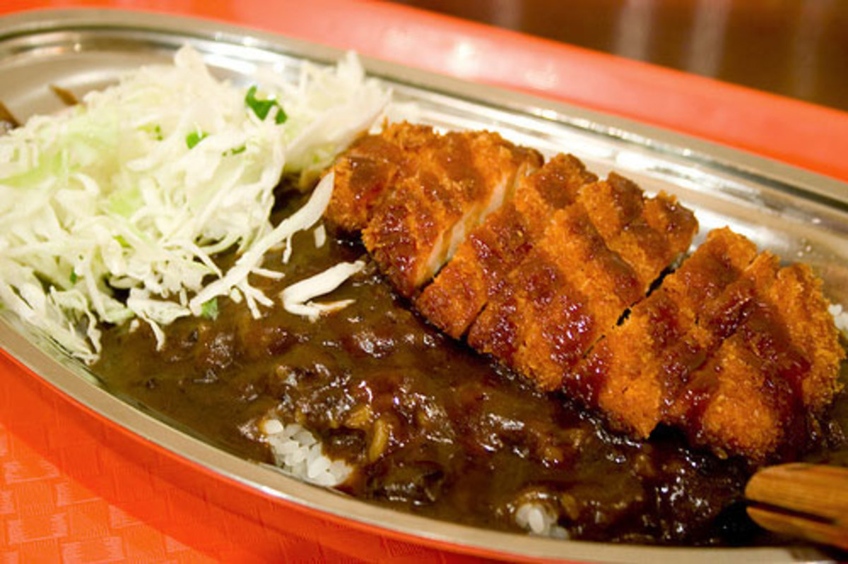 A pork katsu curry. That's the fried cutlet on top.