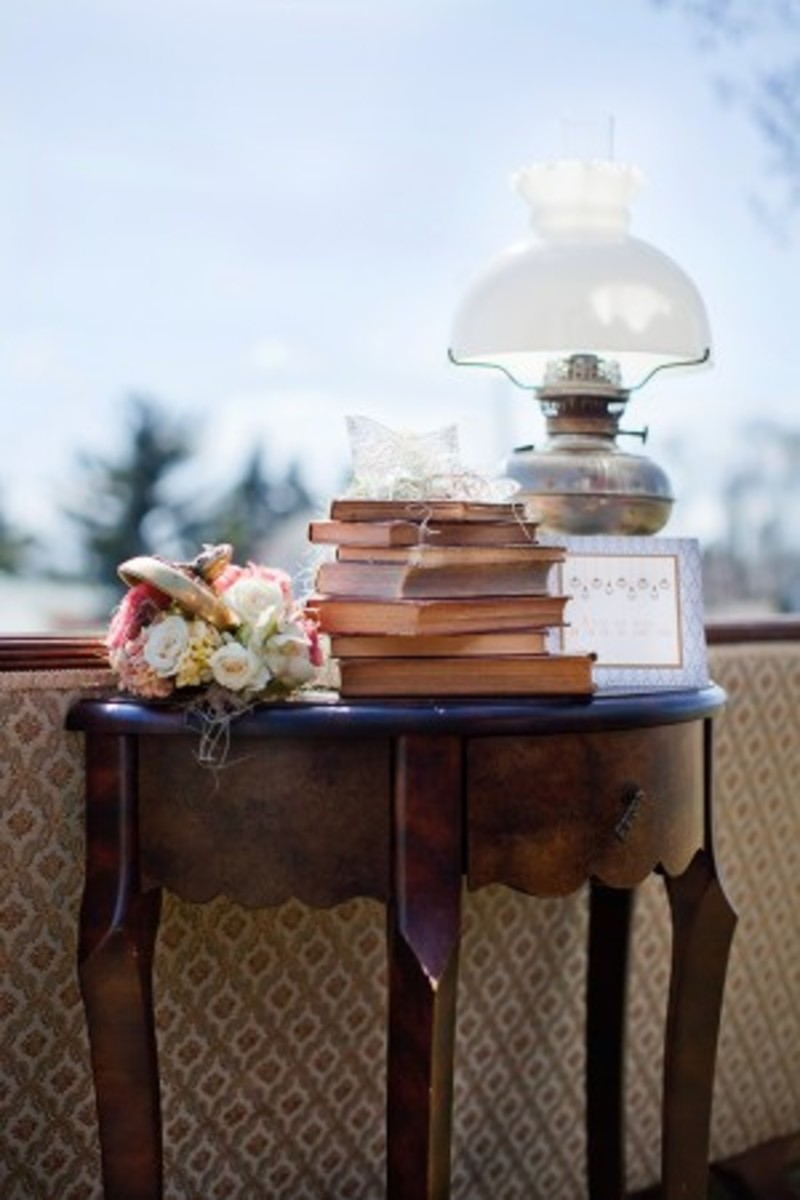 Old Books As Vintage Wedding Decorations