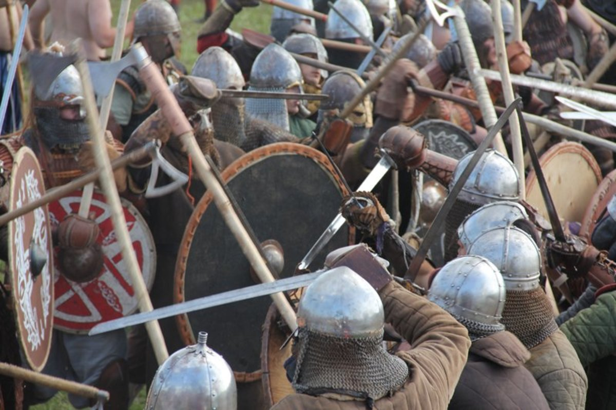 Weight of numbers and brute strength won the day for Viking invaders until the defenders would be able to withstand the crush - that would take decades of struggle