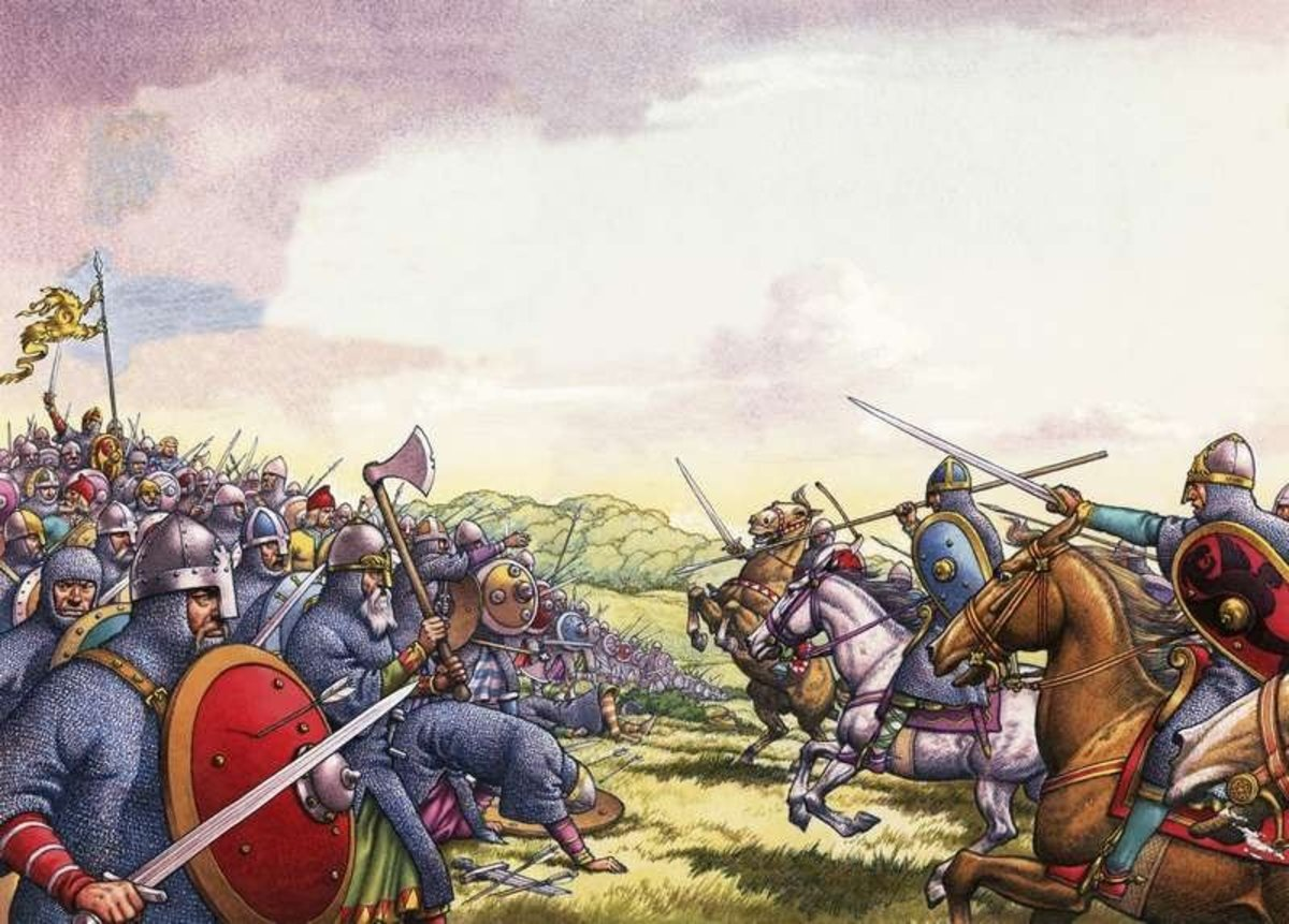 A trial of strength would come in the form of 'new technology', mounted warfare, crossbows and 'trebuchets' (sling machines) when Duke William invaded in late September. Two fighting cultures met on 14th October, 1066 on Caldbec Hill