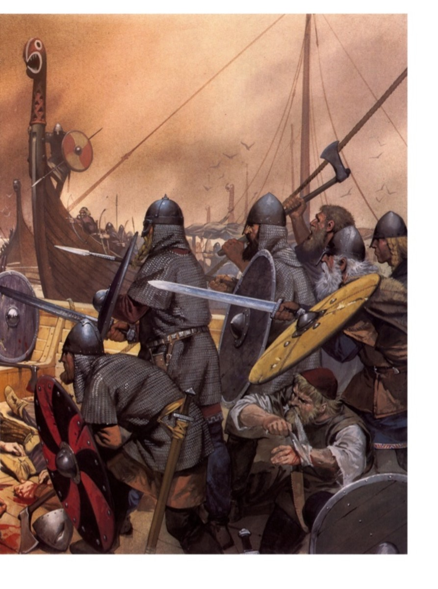 At the Holy River AD1026 in Skaane Knut's Danes and Englishmen fought an alliance of Swedes and Norsemen led by Anund Jakob, Olaf Haraldsson and Jarl Ulf. Godwin's Englishmen impressed Knut so much he made Godwin earl and gave him a sister in wedlock