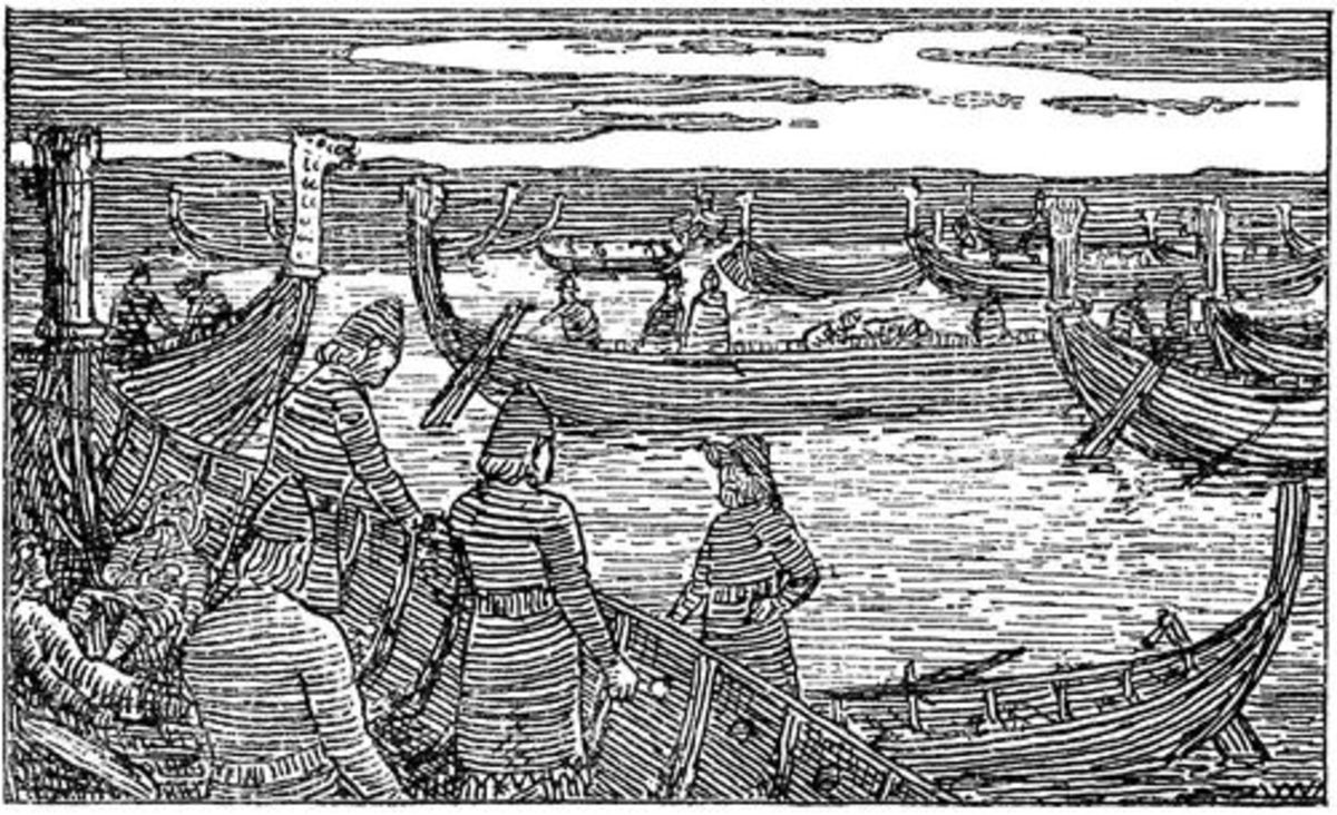 In AD 1062 Harald Sigurdsson fought Svein Estrithsson at the mouth of the River Nis on the coast of Halland (now Sweden). Although he won Svein escaped and two years later Harald acknowledged Svein's kingship
