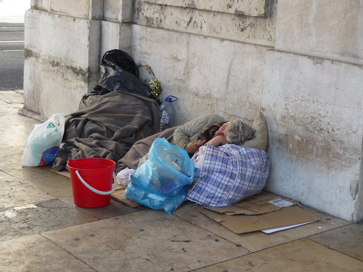 The homeless need help of some kind. Some libraries have job search comuter labs.