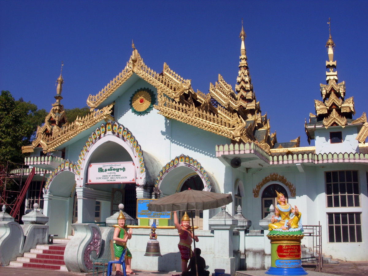 Buddhist Temples of Tachileik, Myanmar (Burma)