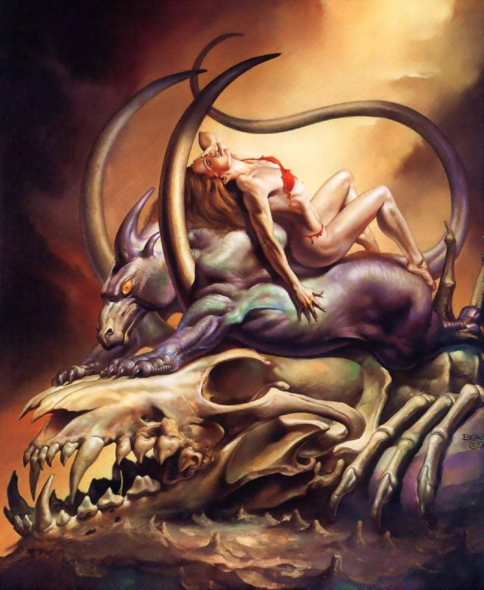 The Sleeper - art by Boris Vallejo
