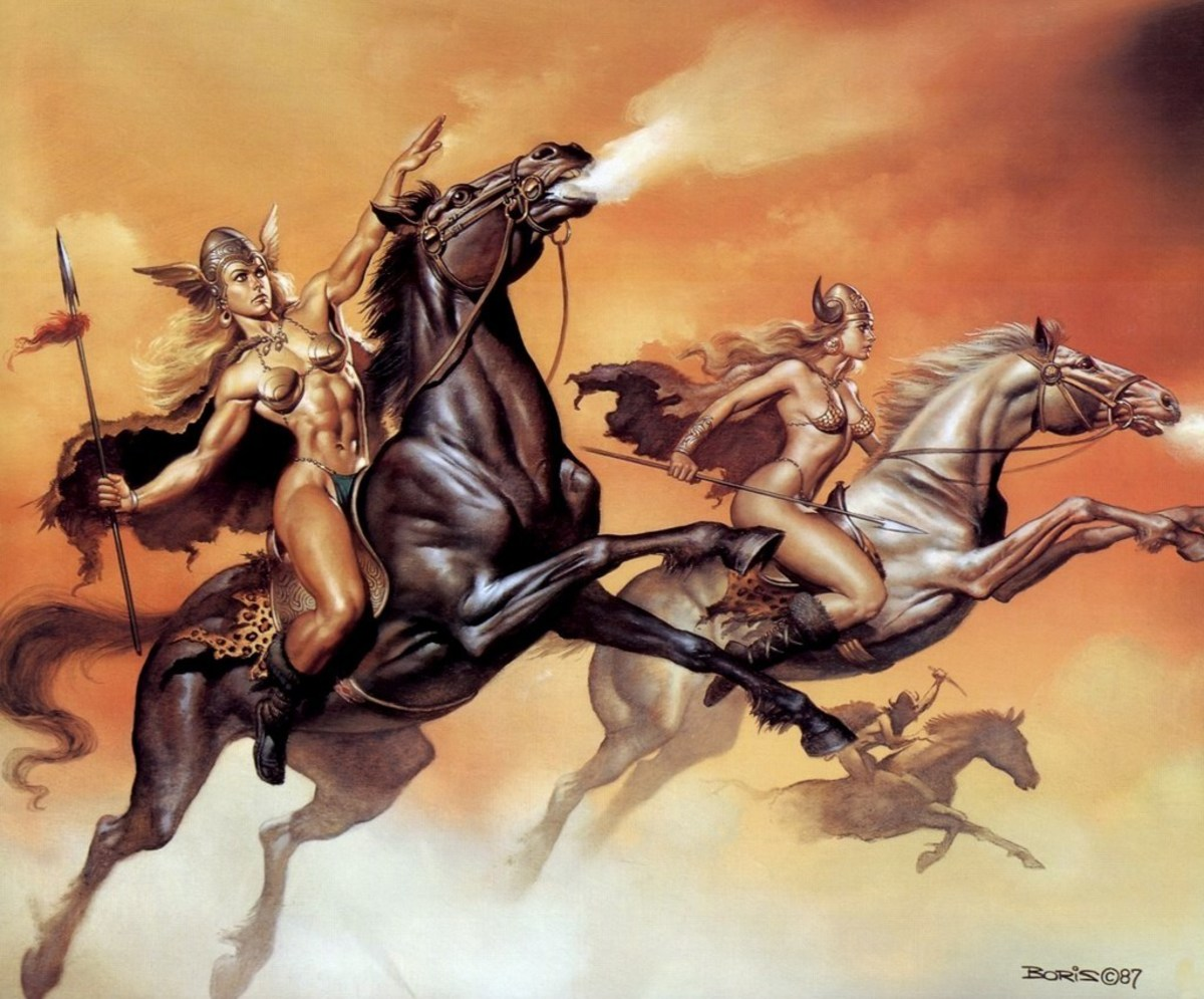 The Valkyries - art by Boris Vallejo