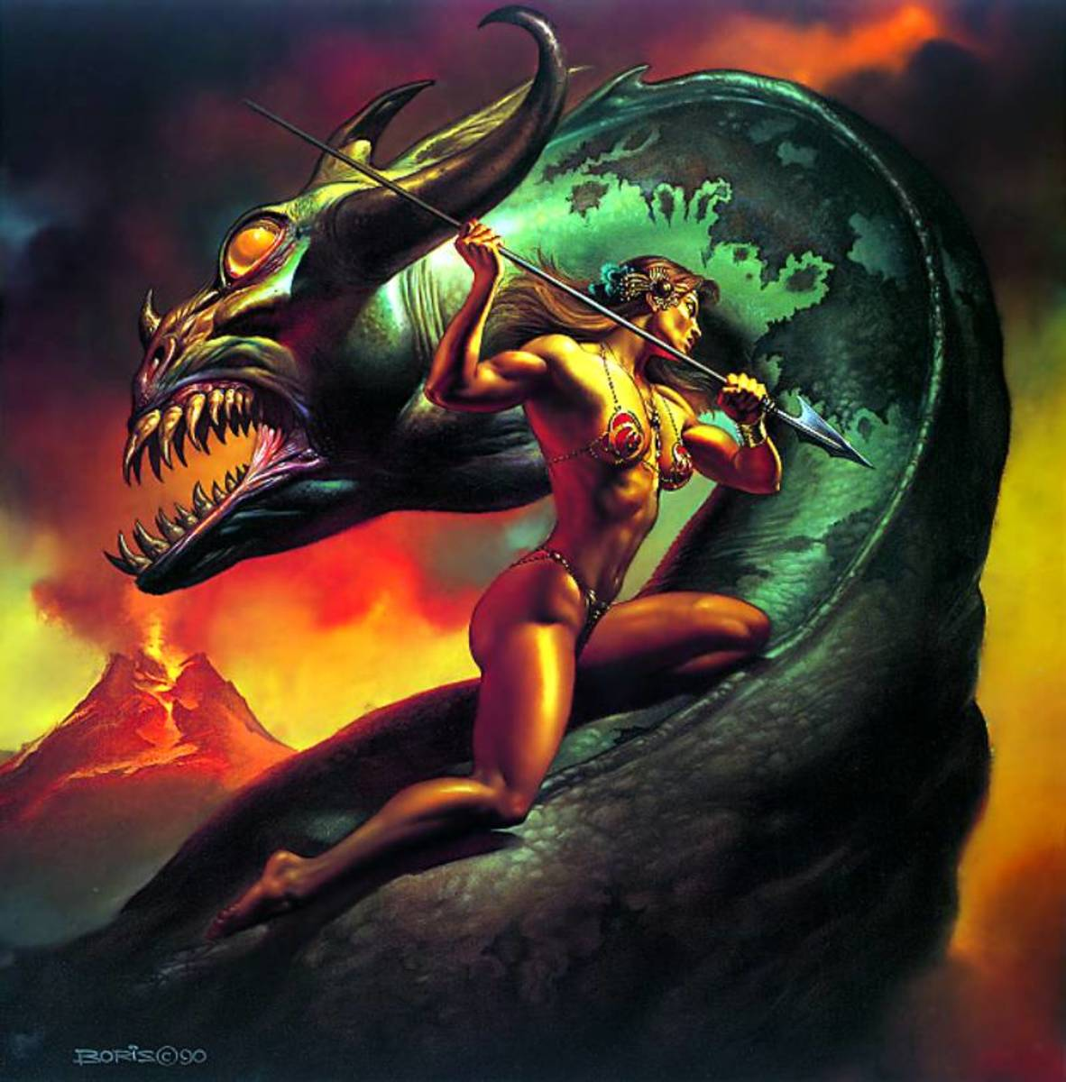 Basilisk - art by Boris Vallejo