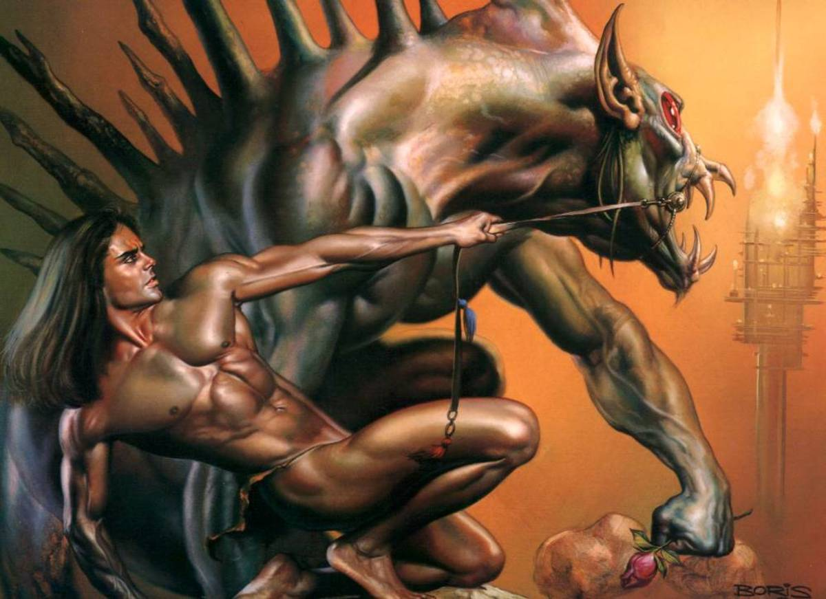 Mormak - art by Boris Vallejo