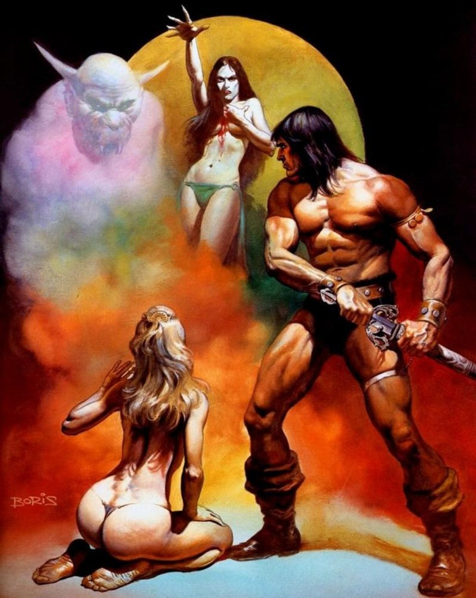 Conan the Freebooter - art by Boris Vallejo