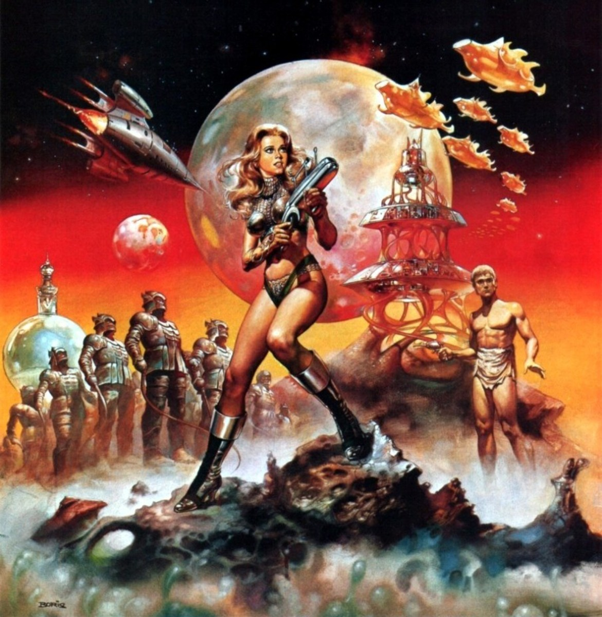 Barbarella - art by Boris Vallejo