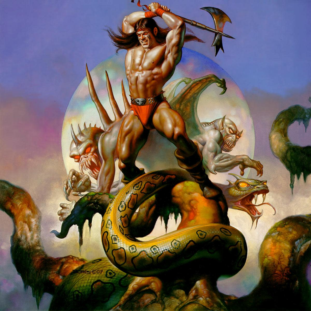 Axe-Man - art by Boris Vallejo