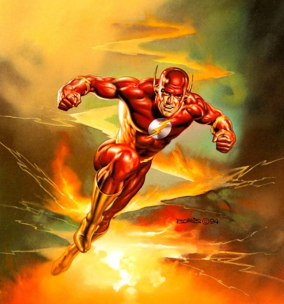 The Flash - art by Boris Vallejo