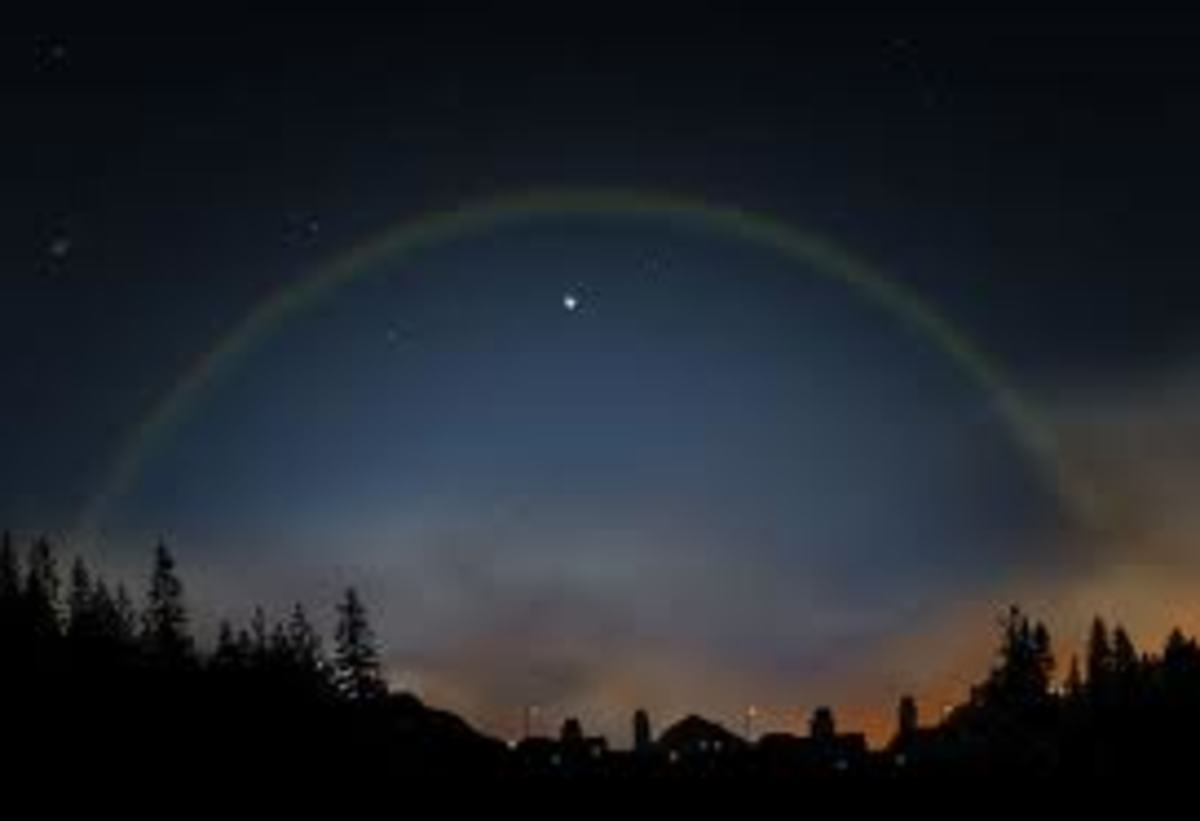 Moonbows-lunar rainbows-white rainbows