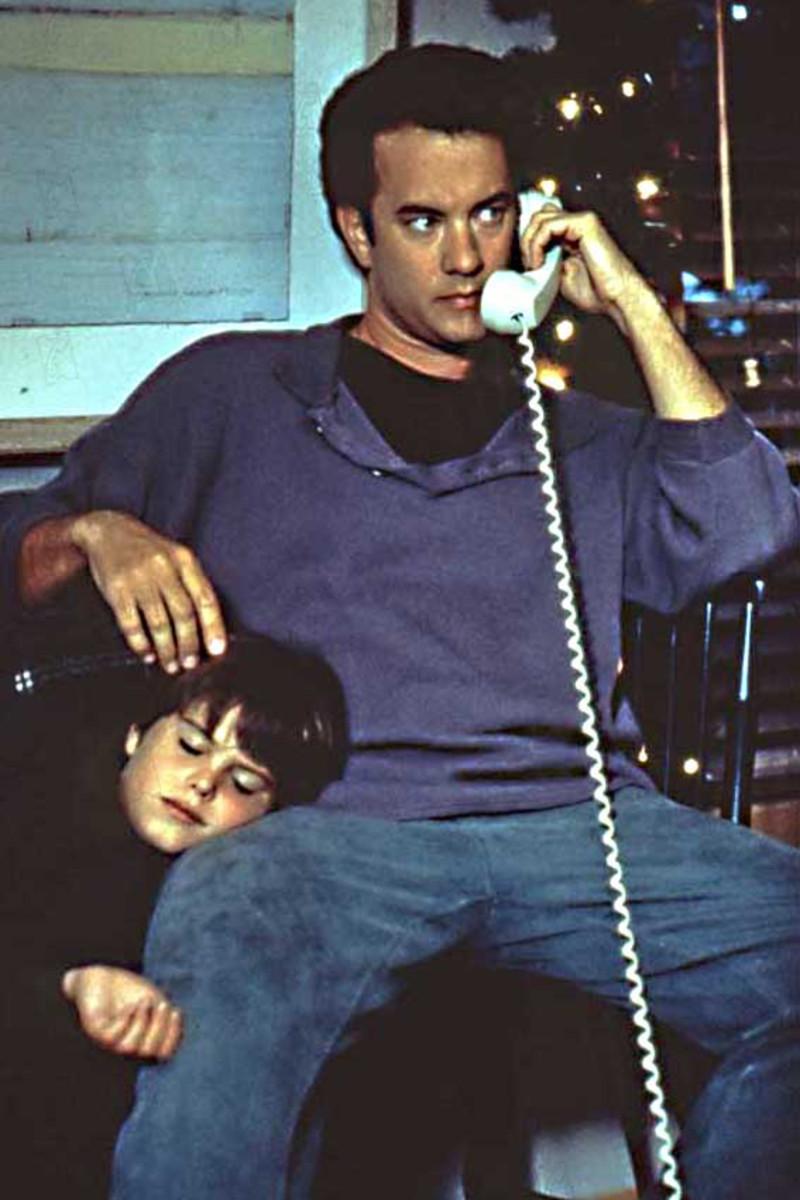 Tom Hanks as Sam Baldwin with Ross Malinger as his son Jonah