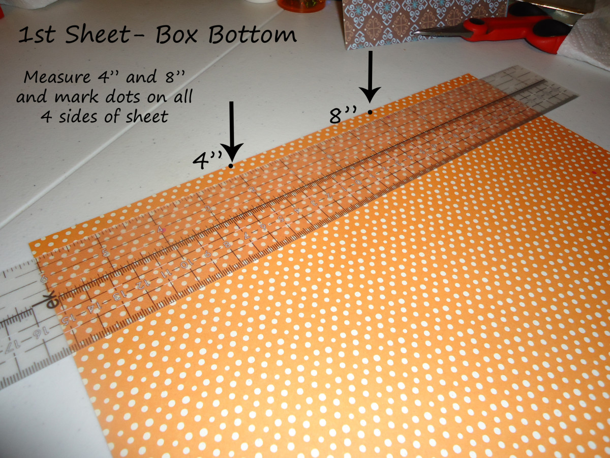 1st 12x12 sheet - measure box bottom