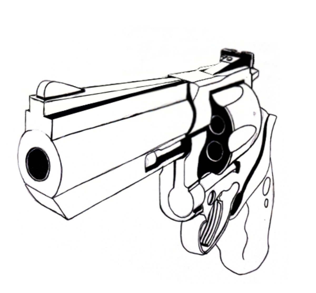 One Line Art Gun : How to draw a gun drawing on video hubpages