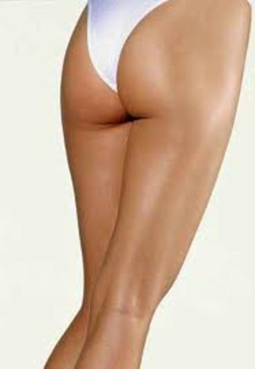 Butt without cellulite