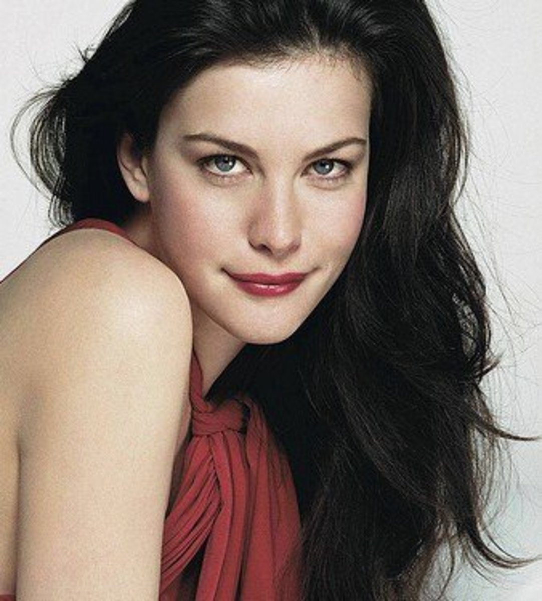 Liv Tyler: Woman with black hair and blue eyes
