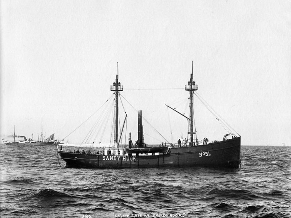 Lightship #51 at Sandy Hook, c.1890-99.