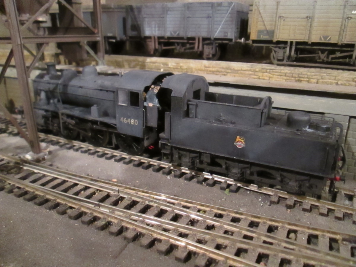 Ex-LMS Ivatt Class 2MT 2-6-0 locos were widespread in the North Eastern Region of British Railways after the mid-50's changes. No. 46480 was allocated to York (50A)  (Bachmann model)