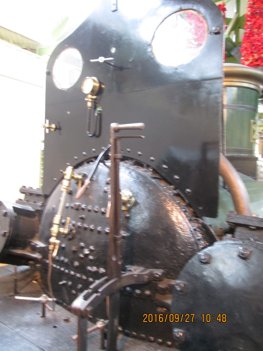 The backhead (boiler back, and control panel in modern parlance) of 'Derwent'