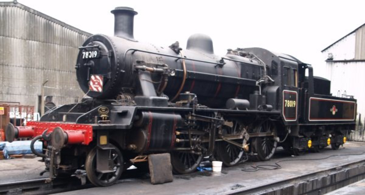 From the smallest... Class 2 2-6-0 78019, like their Ivatt forebears, affectionately nicknamed 'Mickey Mouse' - there was also a tank loco version